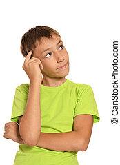 Portrait of a thoughtful teenage boy