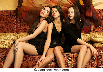 Portrait of a three beautiful women