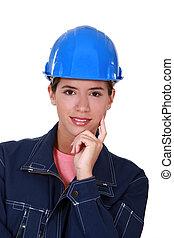 Portrait of a tradeswoman