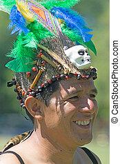 Portrait of a tribal Peruvian man