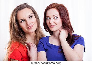 Portrait of a two beautiful women