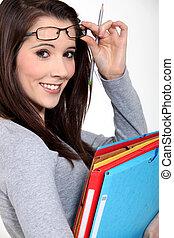 Portrait of a university student