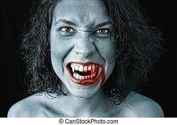 portrait of a vampire - portrait of a female vampire