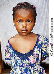 Portrait of a very cute little African girl