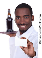 portrait of a waiter