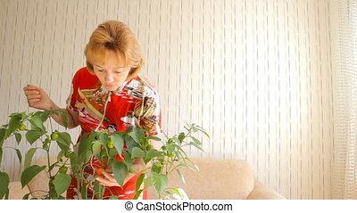 Portrait of a woman biologist