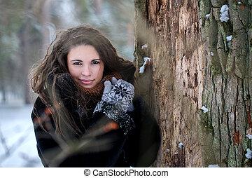 Portrait of a woman in a fur coat