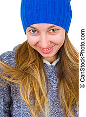 portrait of a woman in a tuque