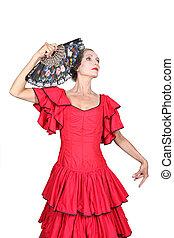 portrait of a woman in flamenco costume