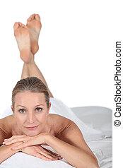 portrait of a woman in spa