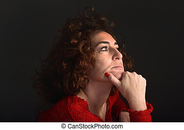 portrait of a woman looking to the side
