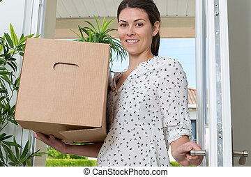 portrait of a woman moving in