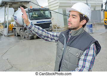 portrait of a worker on site