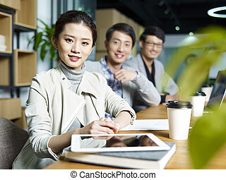 portrait of a young asian business team