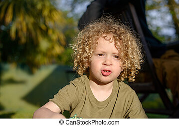 young mixed race boy with curly hair curly hair mixed