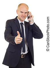 Businessman Having An Affirmative Attitude - Portrait Of A...
