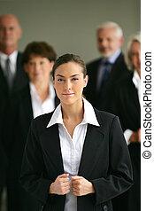 Portrait of a young businesswoman confident