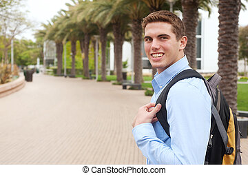 portrait of a young college student
