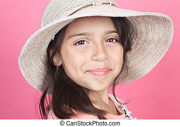 Portrait of a young columbian little girl.