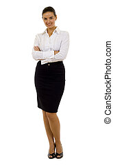 young confident business woman