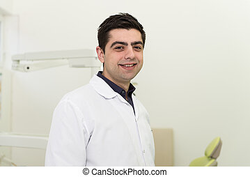 Portrait Of A Young Dentist In The Office