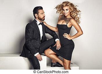 Portrait of a young elegant couple