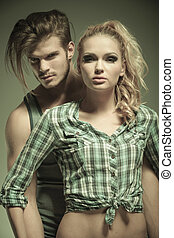 portrait of a young fashion couple