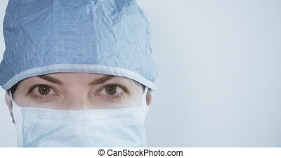 Portrait of a young female surgeon.