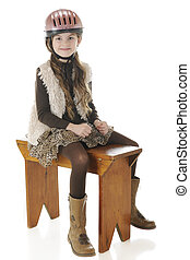 Portrait of a Young Horse Rider