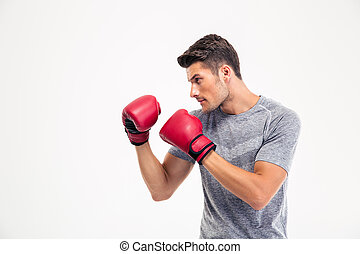 Portrait of a young male boxer