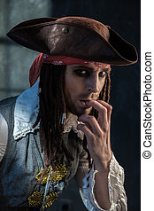 Actor in the image of Captain Jack Sparrow - Portrait of a ...