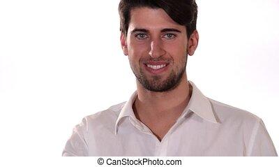 Portrait of a young man. Positivity