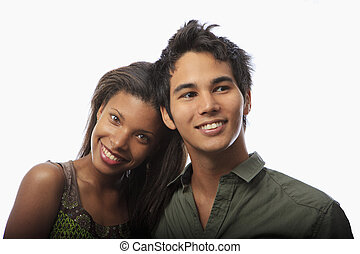 portrait of a young mixed couple