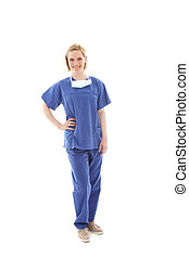 Portrait of a young nurse in scrubs