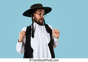 Portrait of a young orthodox Hasdim Jewish man