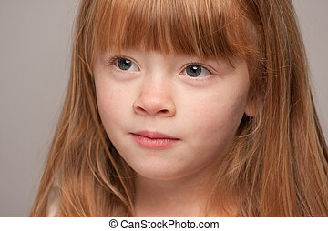 Portrait of a Young Red Haired Girl