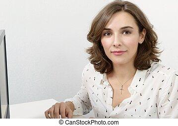 Portrait of a young secretary