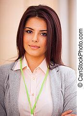 Portrait of a young smiling confident businesswoman