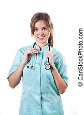 Portrait of a young smiling female doctor