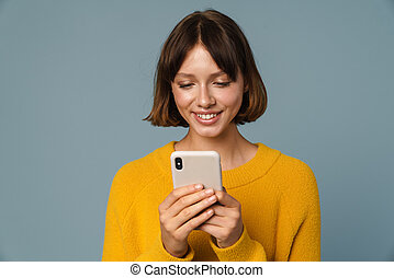 Portrait of a young smiling teenage girl