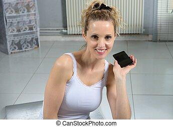 Portrait of a young sportswoman