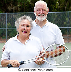 Portrait of Active Seniors - Portrait of an active senior...
