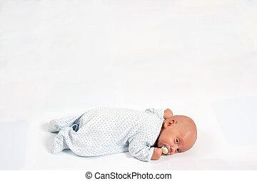 Portrait of Adorable Baby Boy Sucking