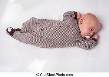 Adorable Baby Boy Sucking