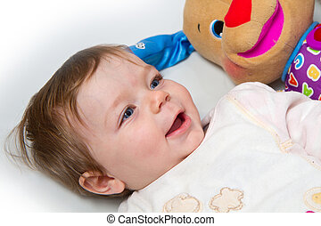 portrait of adorable baby