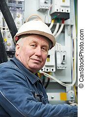 Portrait of adult Electrician