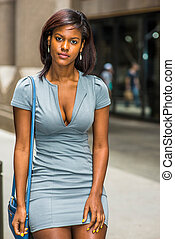 Portrait of African American Businesswoman in New York