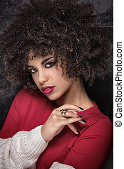 Portrait of african american girl .