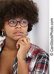 portrait of african-american girl