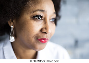 Portrait Of african woman